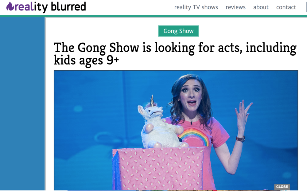 2/06/18  - We're included in another article about The Gong Show's renewal! Such a great surprise!   https://www.realityblurred.com/realitytv/2018/02/gong-show-casting/