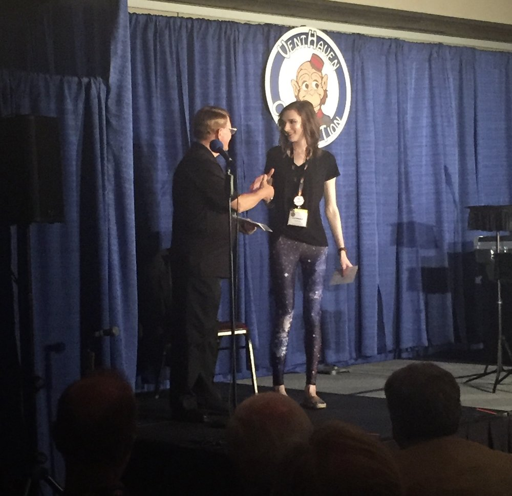07/18/18  - We won People's Choice at the 42nd annual Vent Haven Ventriloquists' Convention!!