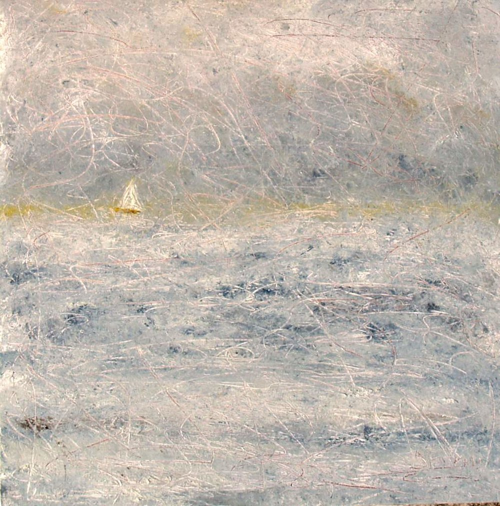 "'Morning Mist', 24""x24"" oil on canvas"