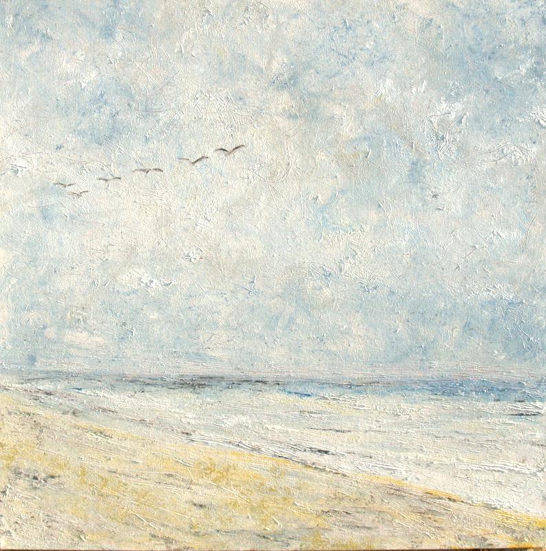 "'Meditations on Flight', 36""x36"" oil on canvas"