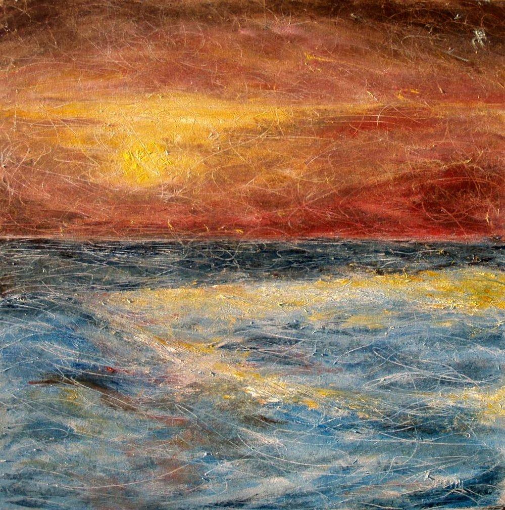 "'Behold the Dusk', 36""x36"" oil on canvas"