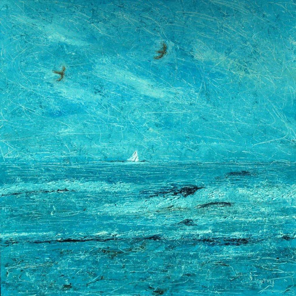 "'Blue Haze' 24""x24"" oil on canvas"