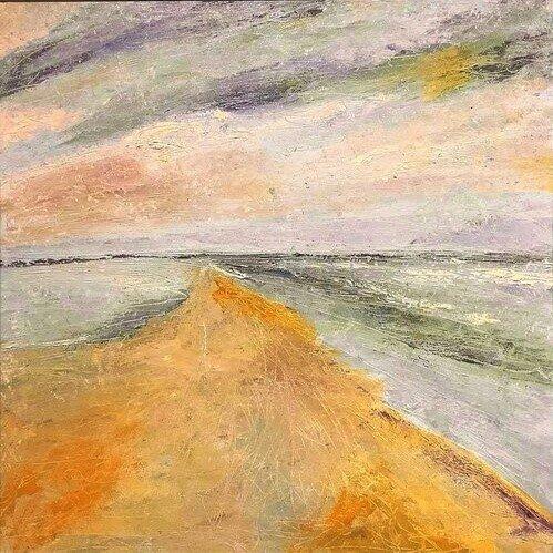 """'Vanishing Point', 24""""x24"""" oil on canvas"""