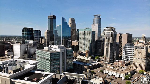 Good view of Minneapolis skyline #drone #dji #dronestagram #phantom #drones #mavicair #mavic #minneapolis #minnesota