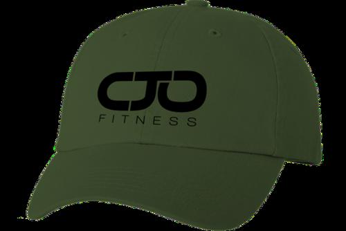Olive Green Dad Hat w  Black Stitched Logo — I AM CJO 3351b27ab85