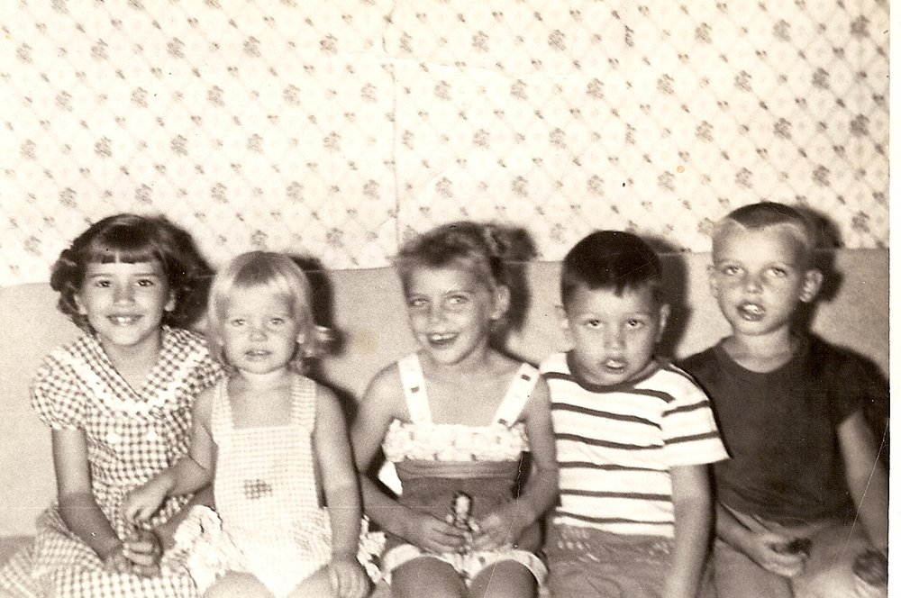 Bob with Arkansas Cousins - 1954