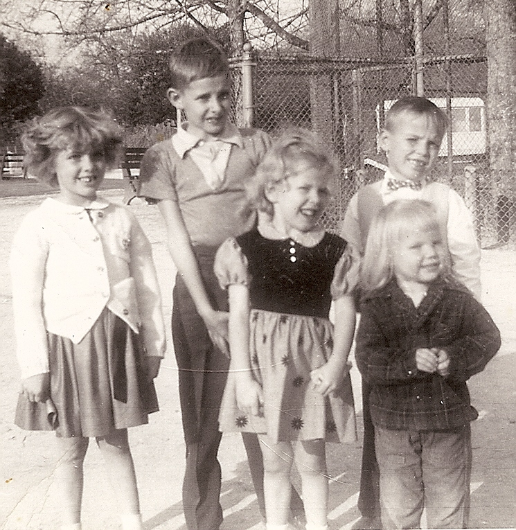 Bob with Cousins in Houston, Texas - 1954