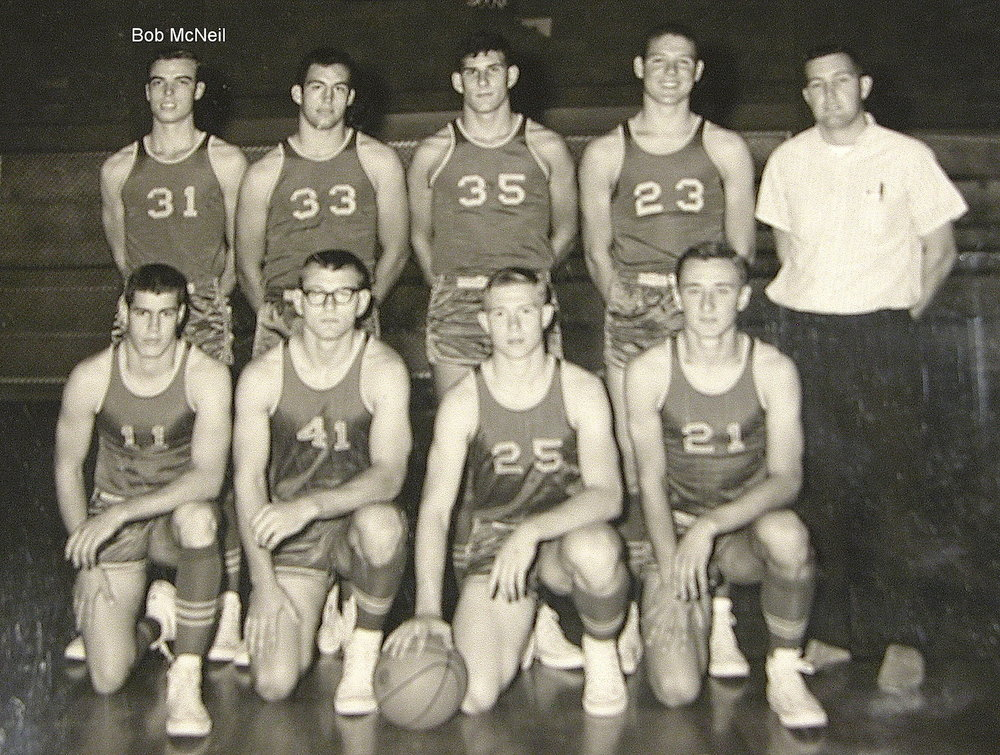 Bob McNeil - 1967 - Age 18 - Twelfth Grade - Channelview High School - Basketball Team Picture