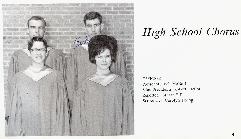 Bob McNeil - 1967 - Age 18 - Twelfth Grade - Channelview High School - Choir Officers