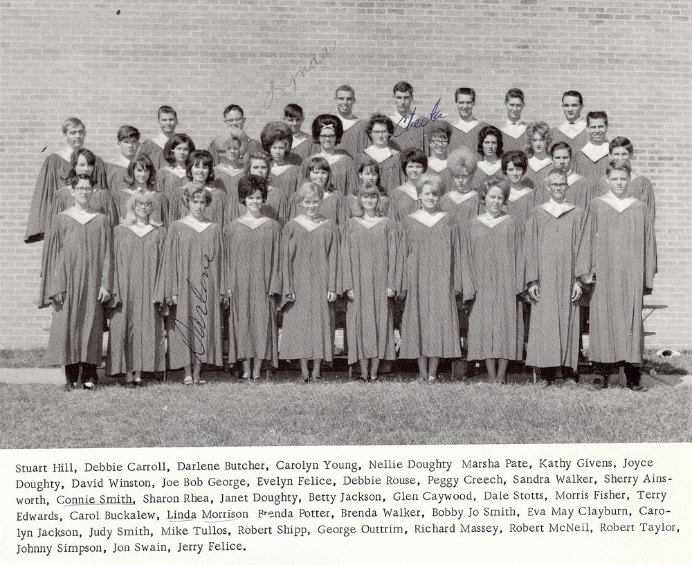 Bob McNeil - 1967 - Age 18 - Twelfth Grade - Channelview High School - Choir Picture