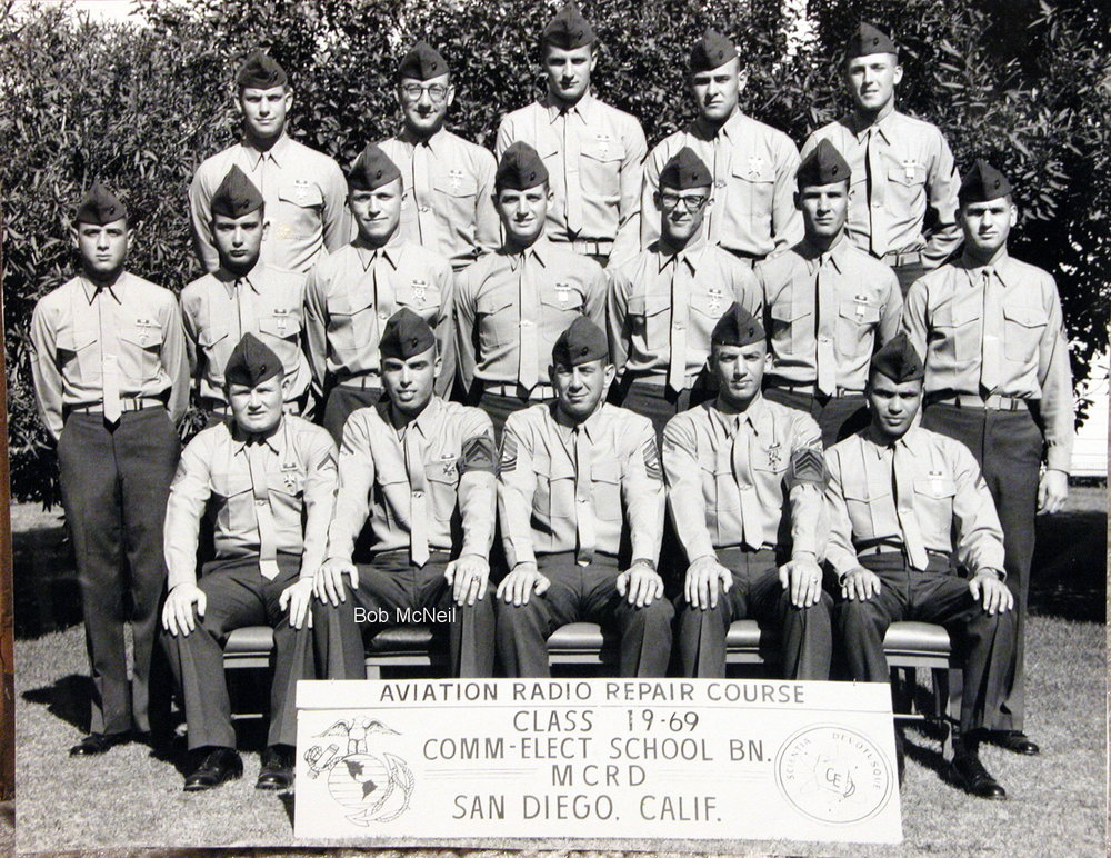 Bob McNeil - 1969 - Age 20 - U.S. Marine Corps - Aviation Radio Repair Course - San Diego, California