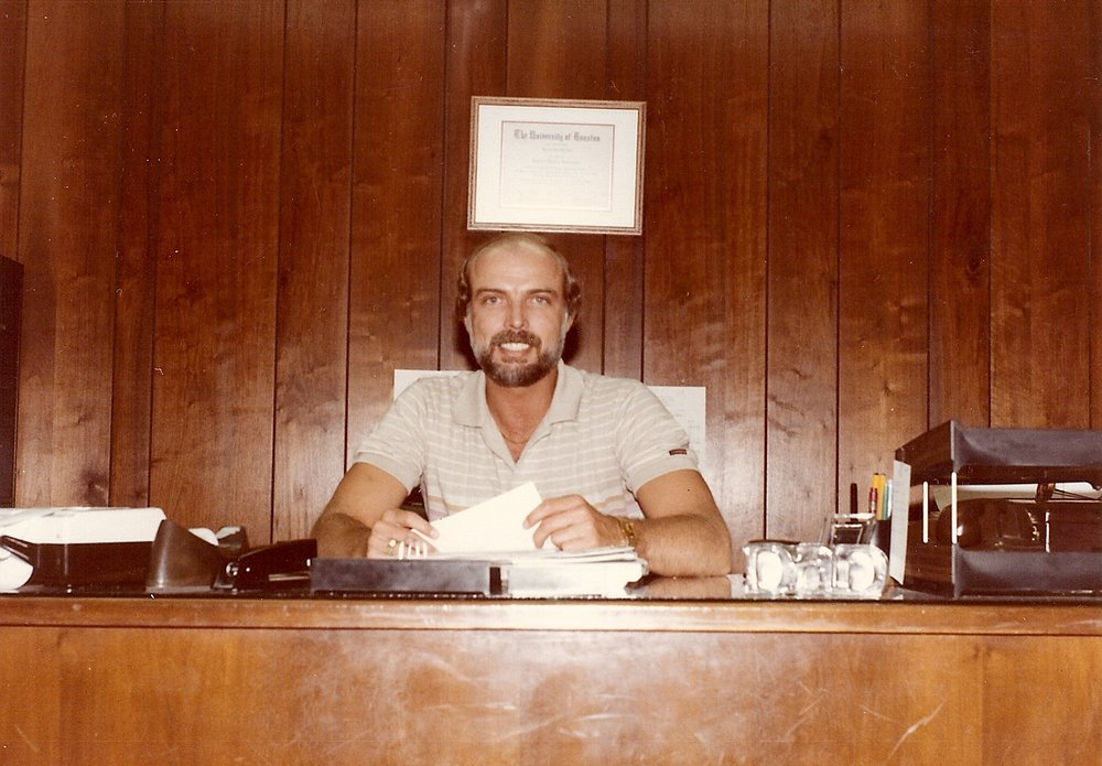 Bob McNeil - 1986 - Age 37 - Tenneco Oil Company - Working in My Office in Oklahoma City, Oklahoma
