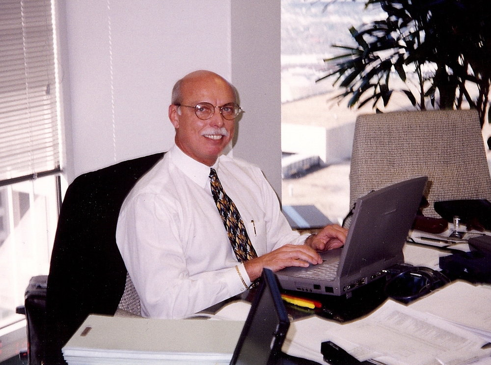 Bob McNeil - 1987 - Age 38 - Tenneco Oil Company - Working in My Office in Houston, Texas