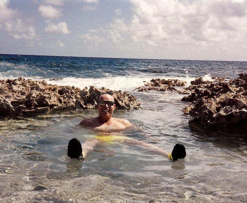 Bob McNeil - 1991 - Age 42 - Relaxing in the Cayman Islands