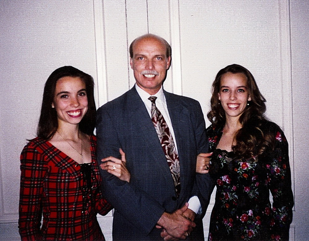 Bob McNeil - 1994 - Age 45 - On a Dinner Date with My Beautiful Daughters