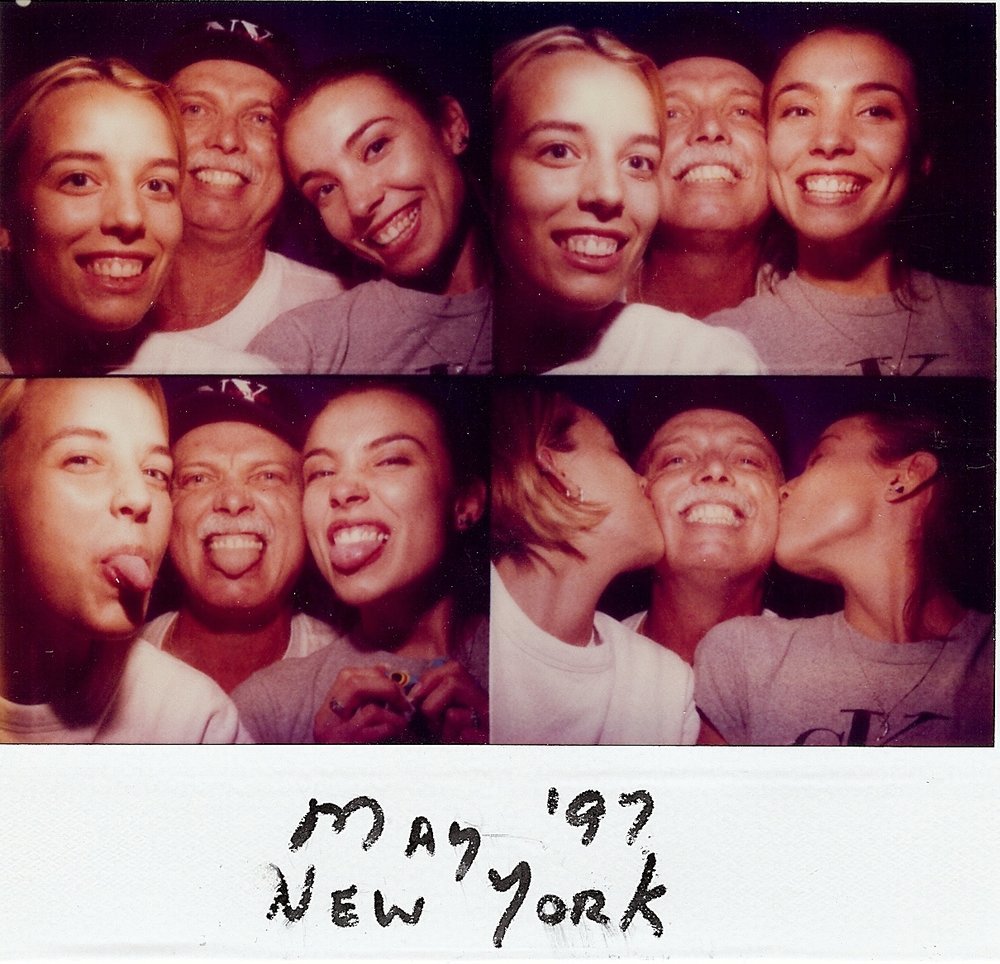 Bob McNeil - 1997 - Age 48 - New York City with Kelly and Casi