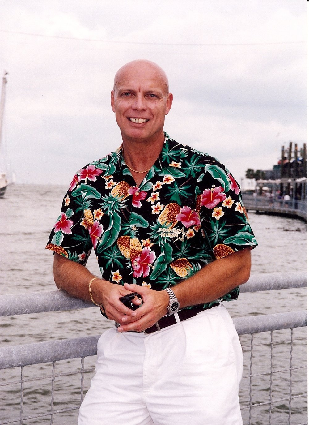 Bob McNeil - 2001 - Age 52 - On the Boardwalk in Kemah, Texas