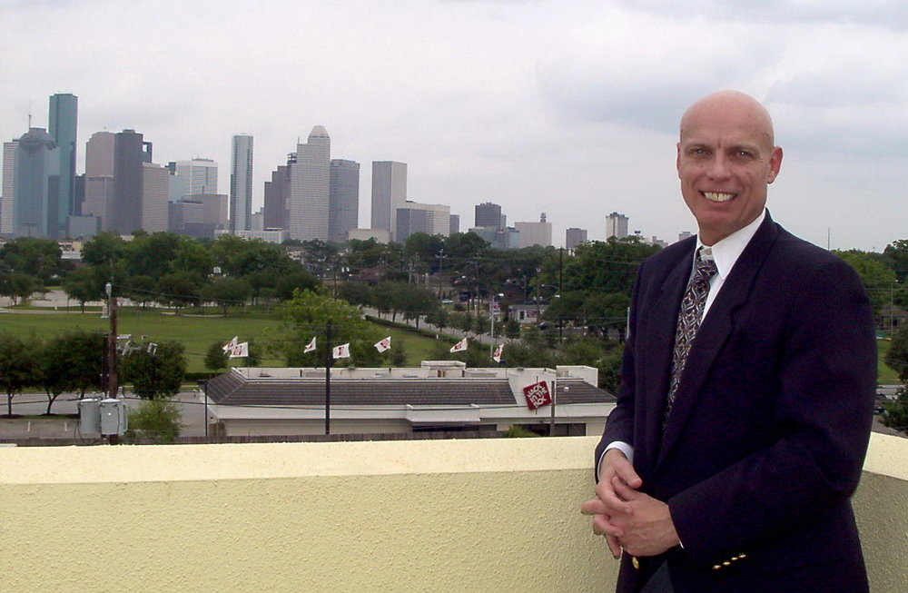 Bob McNeil - 2001 - Age 52 - Overlooking Downtown Houston