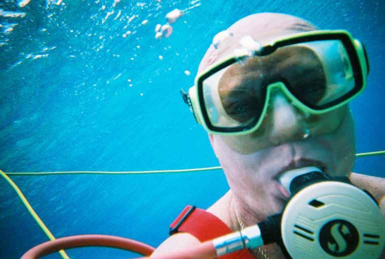 Bob McNeil - 2004 - Age 55 - Snuba in Cozumel, Mexico