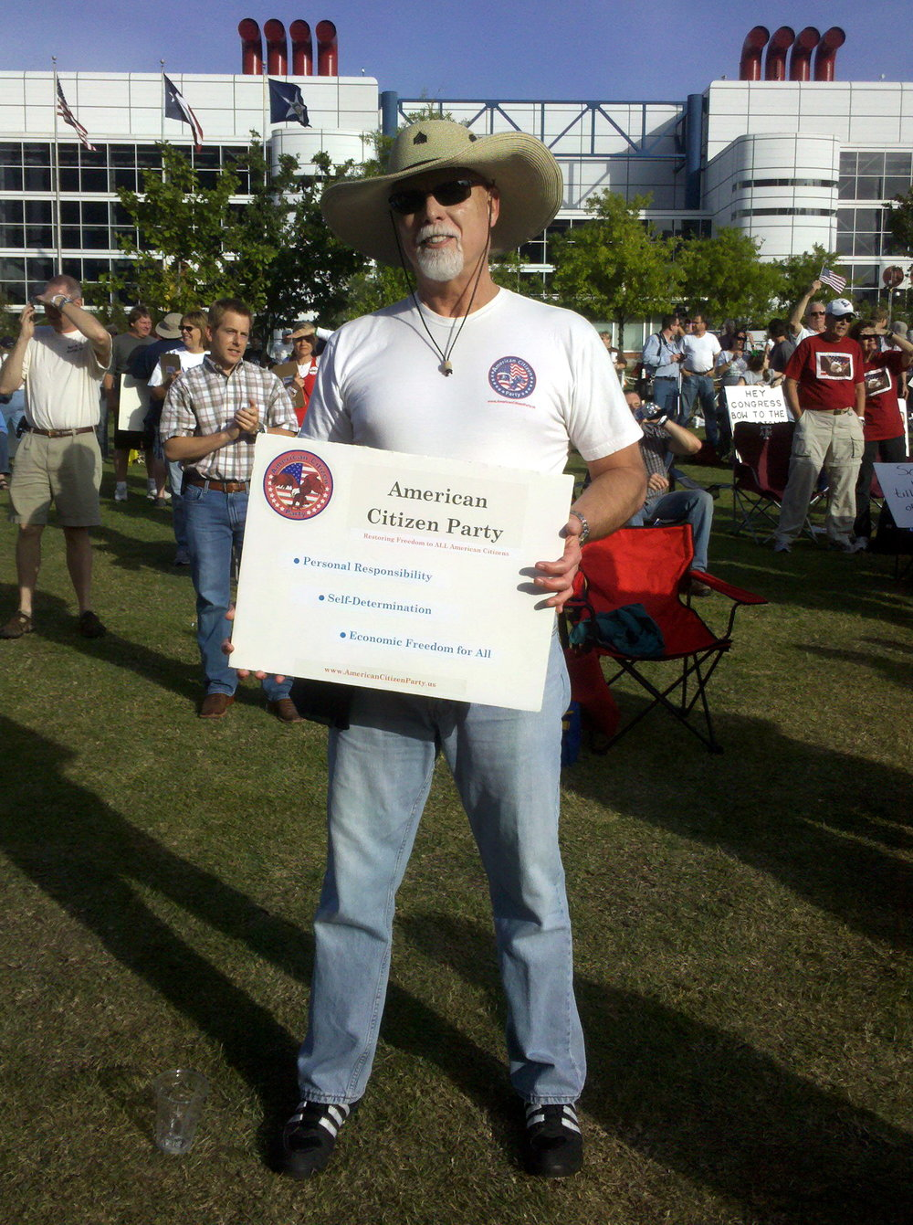 Bob McNeil - 2010 - Age 61 - Tax Day Tea Party Rally - Houston, Texas