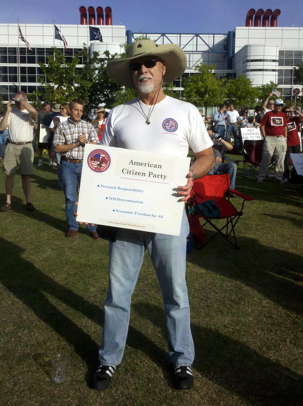 Bob McNeil - 2010 - Age 61 - Tax Day Tea Party Rally - Houston, Texas