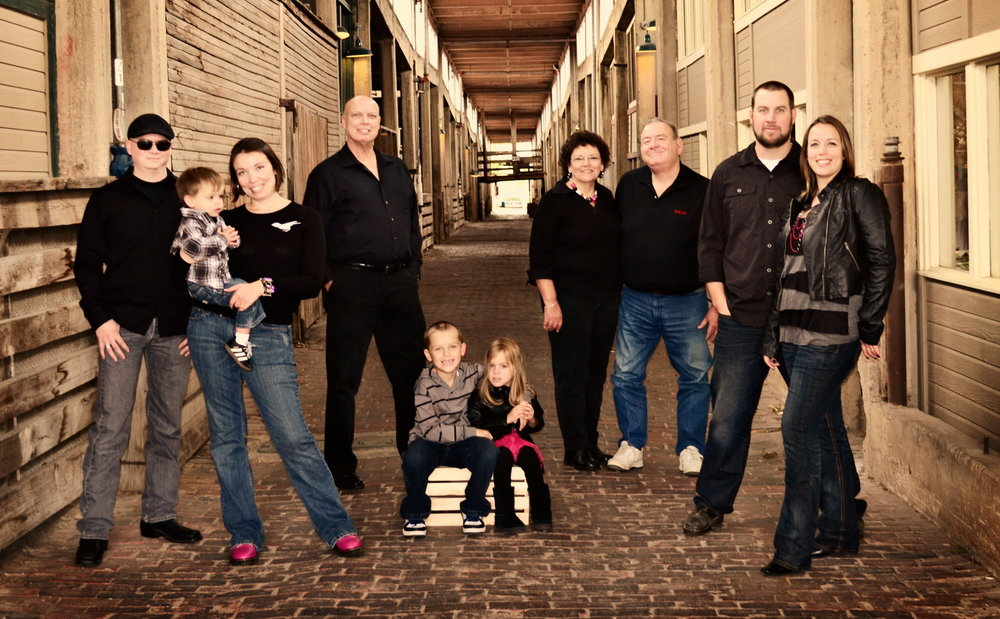 Bob McNeil - 2011 - Age 62 - Family Photo Shoot at Ft. Worth, Texas Stockyards