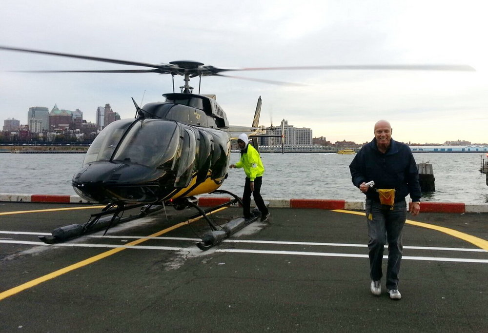 Bob McNeil - 2013 - Age 64 - New York City Helicopter Tour