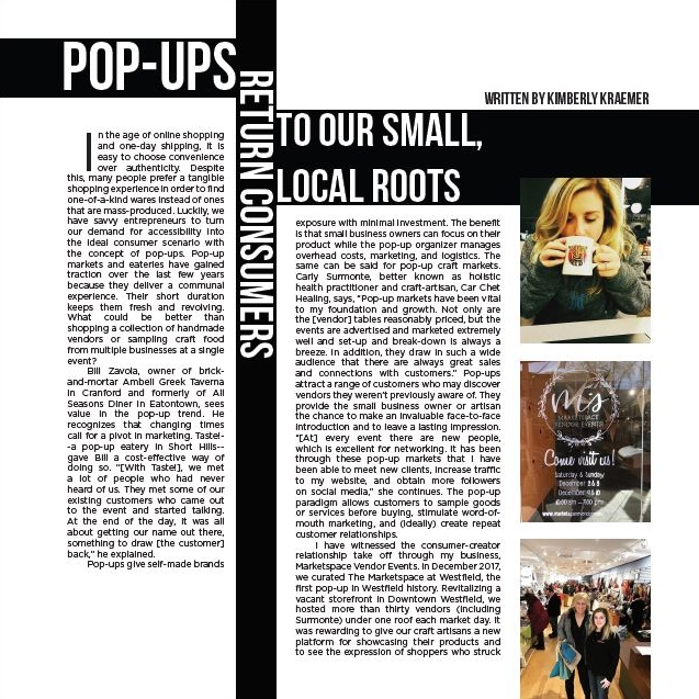 Marketspace Meets the Shore with Breaker Zine - April 20, 2018 Long Beach Island -- Much like print, local 'mom and pop' shops aren't dead... just ask Carly Surmonte of Car Chet Healing and Bill Zavola of Ambeli Greek Taverna. Read more on the resurgence of handmade in Issue Four of Breaker Zine.