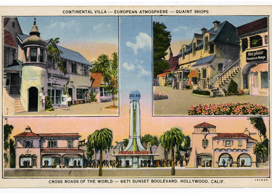 Postcard from Crossroads of the World  Photo via Los Angeles Public Library