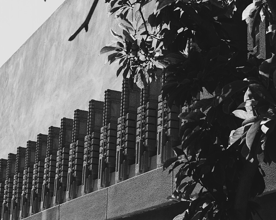 Hollyhock House Exterior Detail  Photo via  Finding Lost Angeles  (2017)