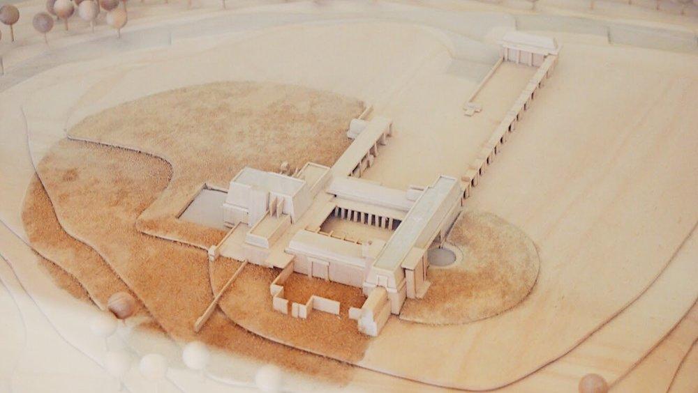 Model Rendering of Barnsdall Park & Hollyhock House