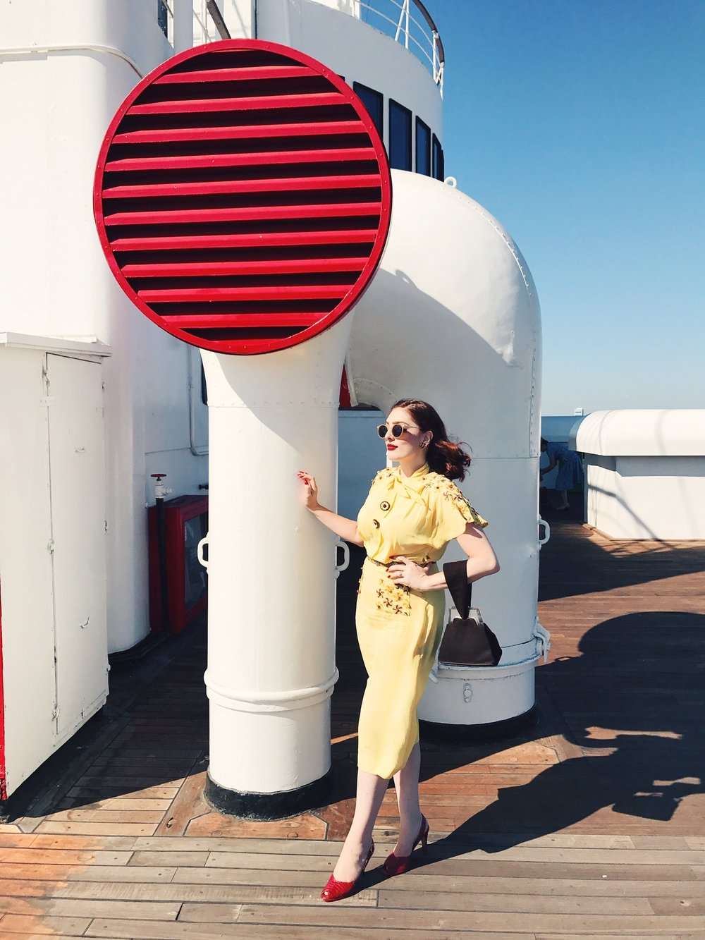 Deck of the Queen Mary  Photo via  Finding Lost Angeles  (2017)