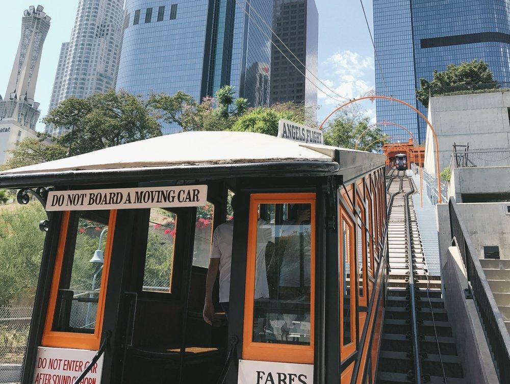 Exterior of Angels Flight railcar