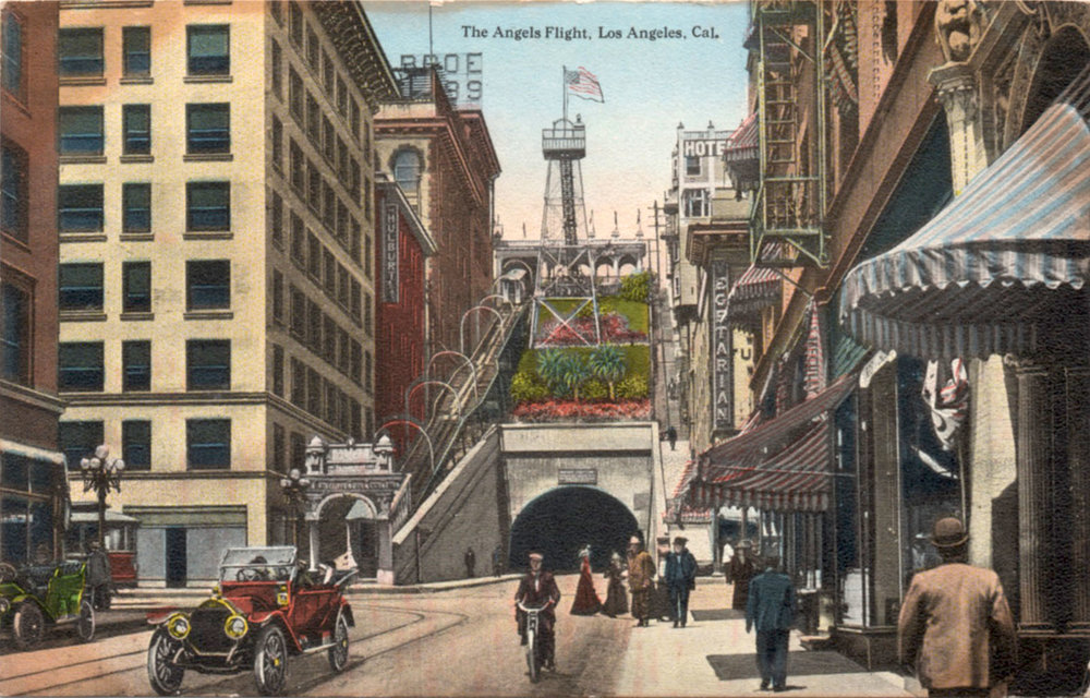Angels Flight postcard c. early-1900s