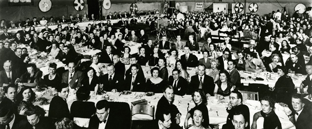 The First Annual Emmy Awards Ceremony - photo via The Hollywood Athletic Club (1949).