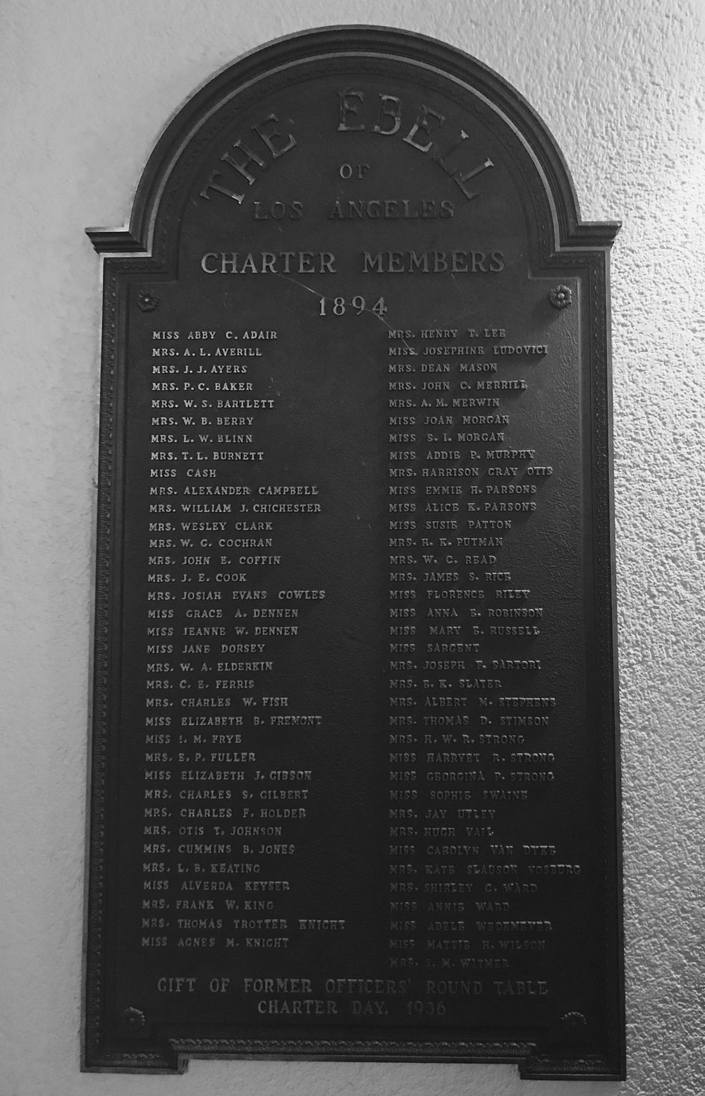 Ebell of Los Angeles Charter Members