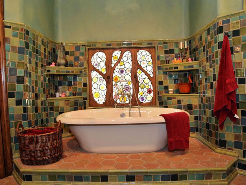The Witch's House Interior - Bathroom  Photo via  Los Angeles Magazine  (2014)