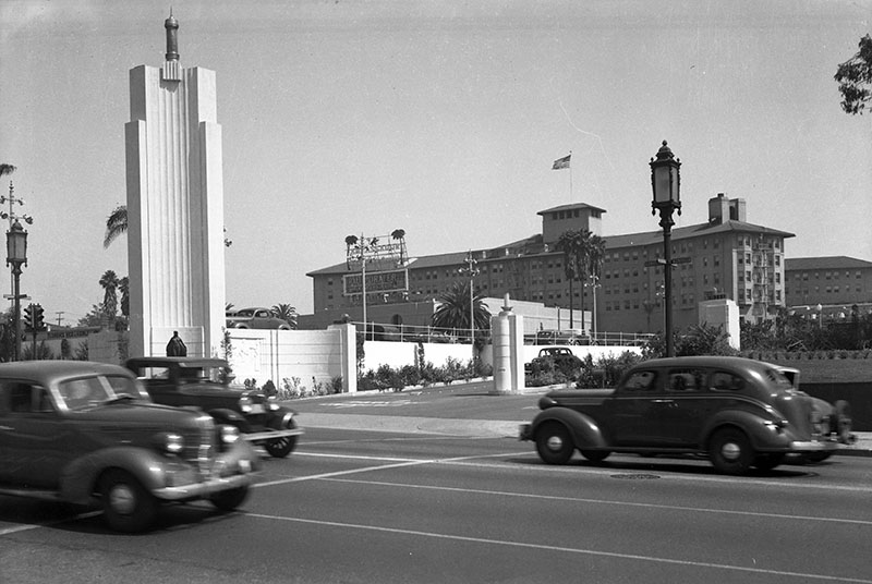 The Ambassador Hotel.  Photo via California Digital Library (1939)