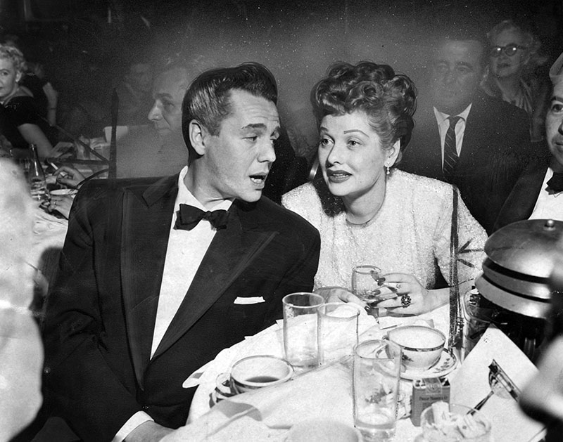 Desi Arnaz and Lucille Ball at the Cocoanut Grove