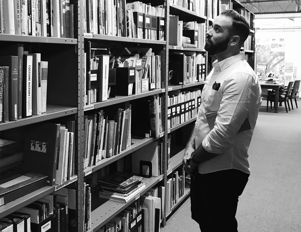 Stacks at the Western Costume Company library.  Photo via  Finding Lost Angeles  (2018)