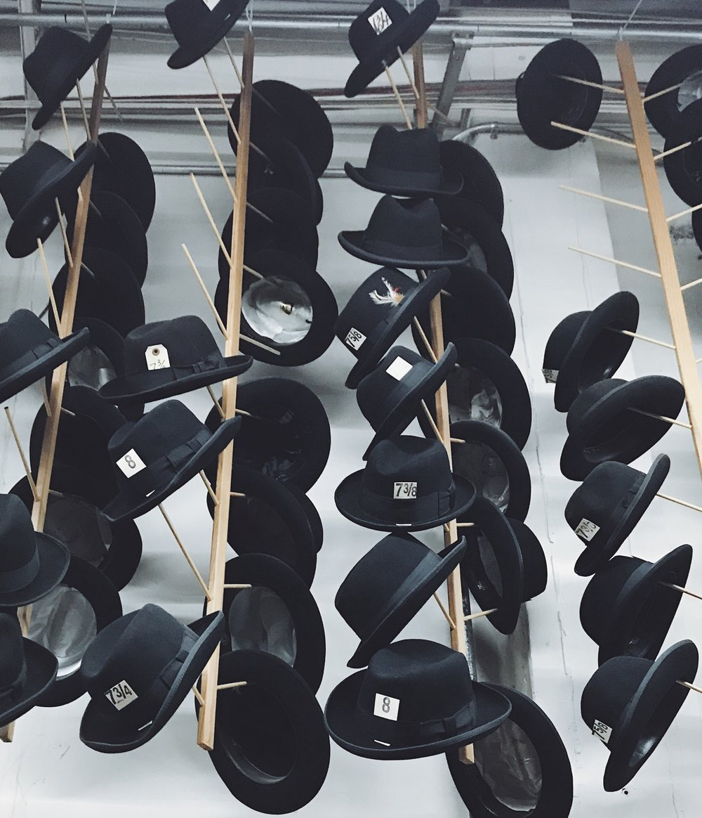 Just a sample of the Western Costume hat collection.  Photo via  Finding Lost Angeles  (2018)