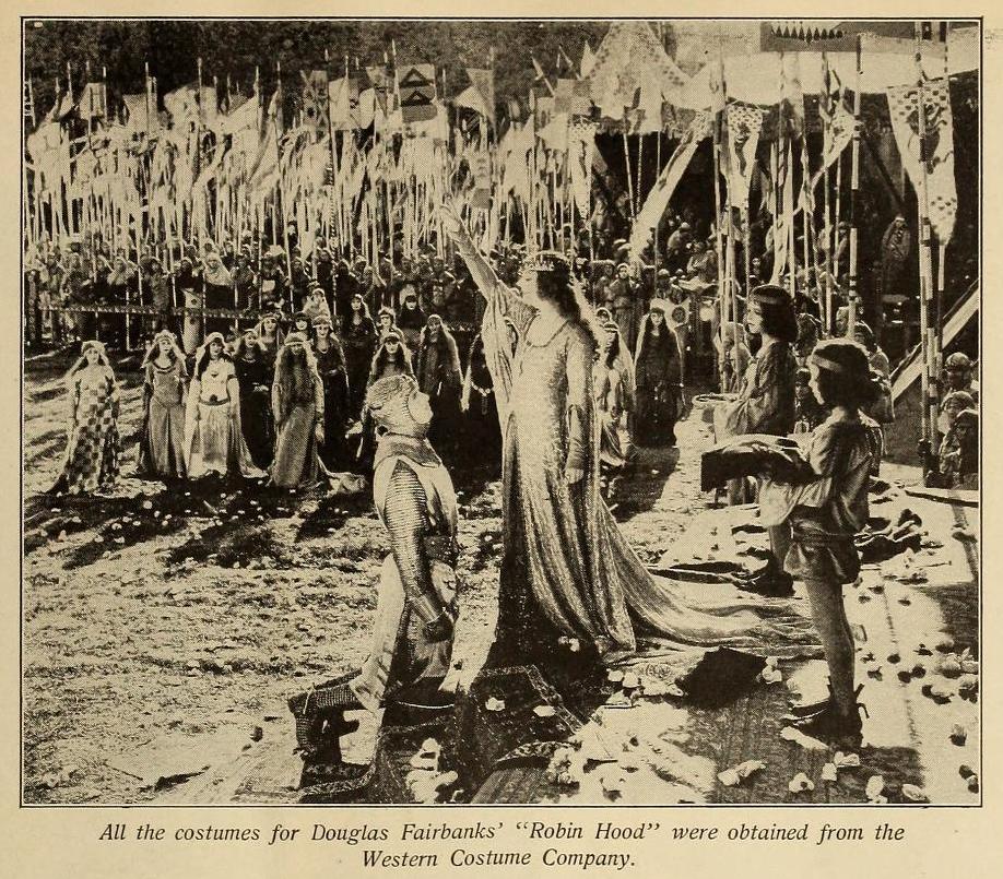 Western Costume's work on display in  Robin Hood (1922).  Photo via  Picture-Play Magazine (Feb. 5, 1927)