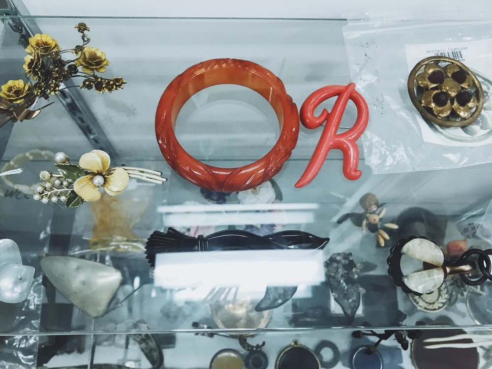 """Accessories in """"The Collection"""" at Western Costume Company.  Photo via  Finding Lost Angeles  (2018)."""
