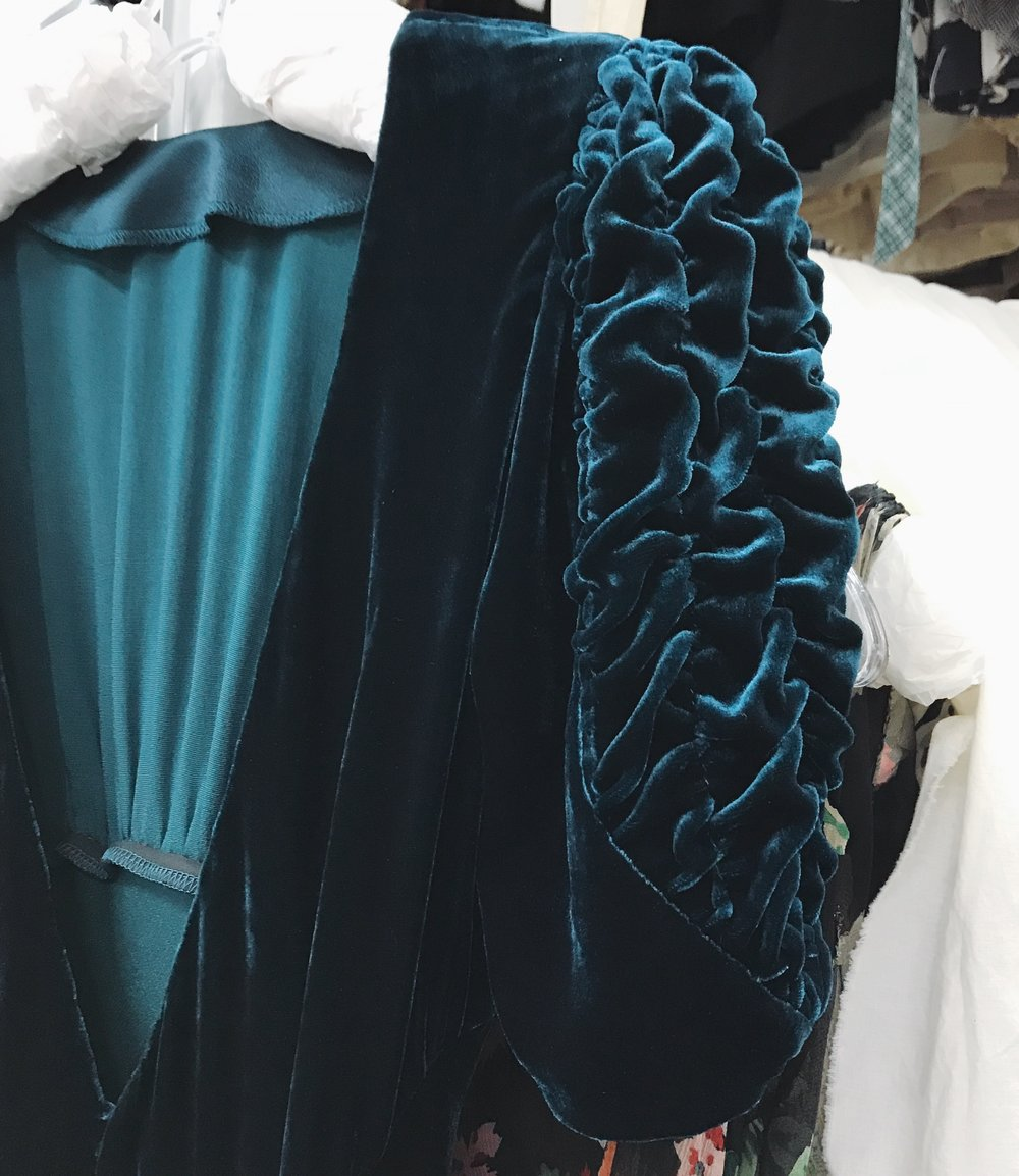 """Velvet dress on display in """"The Collection"""" at Western Costume Company.  Photo via  Finding Lost Angeles  (2018)."""
