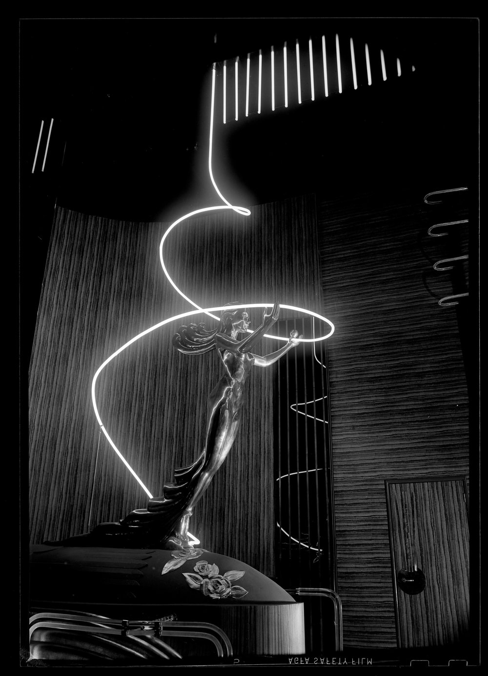 The Goddess of Neon. Photo by Maynard L. Parker via Huntington Library (1939)