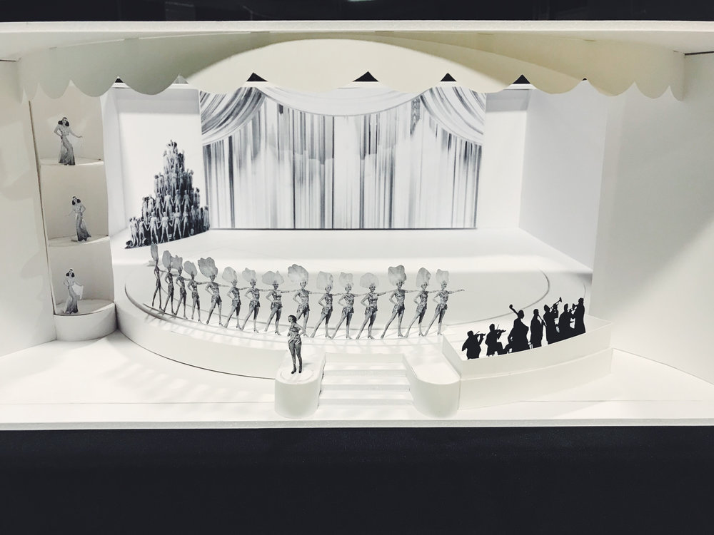 LAHTF's model rendering of what a show would have looked like at the Earl Carroll Theater, featuring the rotating stages. Photo via  Finding Lost Angeles  (2018).