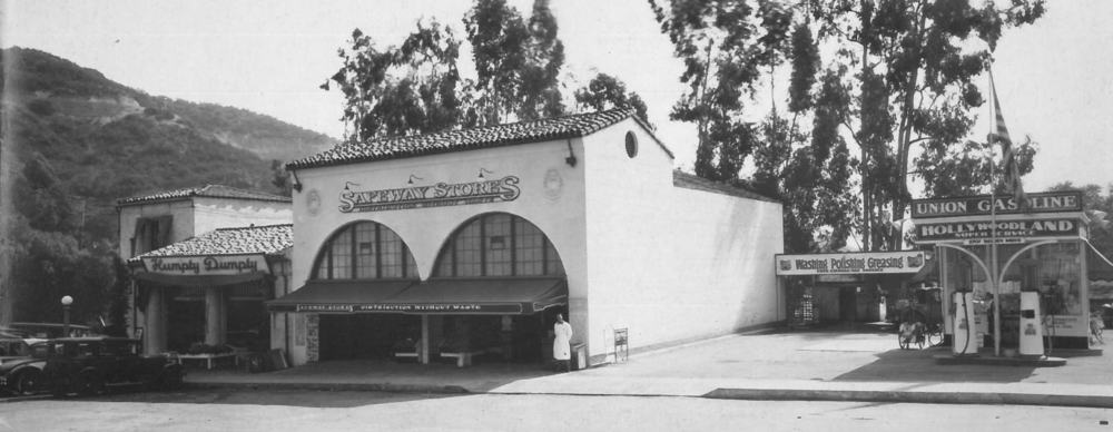 Top: Hollywoodland Plaza. Photo via  Hollywoodland: Established 1923 .