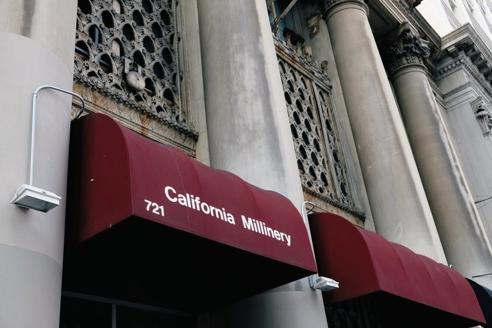 California Millinery Supply Co. exterior awning
