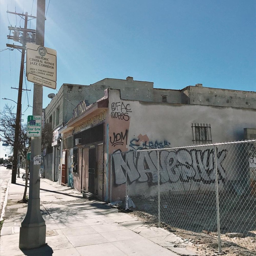 All that remains of Jack's Basket Room down on Central Avenue in South LA.