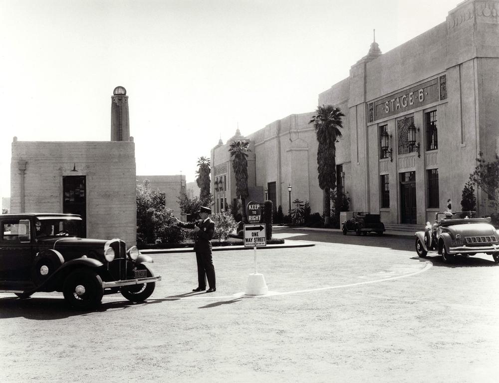 Fox studio backlot in the 1930s. Image via  Variety .
